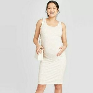 Isabel Maternity Ivory with Mettalic Design Dress
